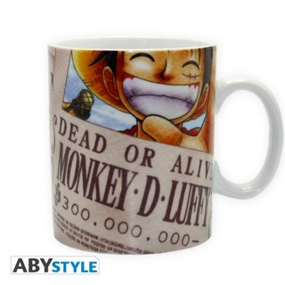 ONE PIECE mug Luffy Wanted King size