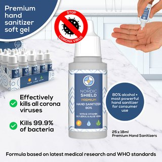 The Nordic Shield Hand Sanitizer 80% (18ml)