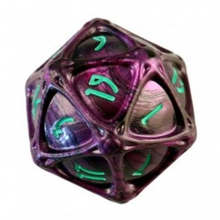 PolyHero 1d20 Orb - Wizardstone with Mystic Runes