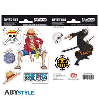 ONE PIECE - Stickers - 16x11cm/ 2 sheets - Luffy & Law