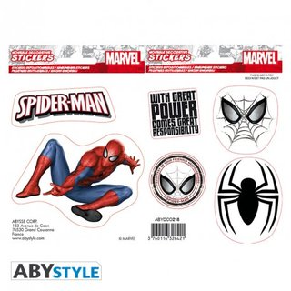 MARVEL -Stickers - 16x11cm/ 2 sheets - Spider-man