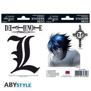 DEATH NOTE - Stickers - 16x11cm/ 2 sheets - L