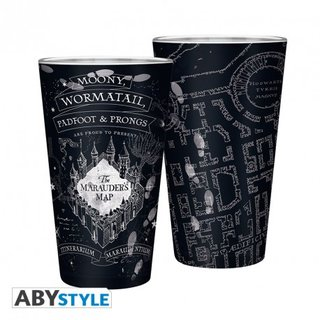 HARRY POTTER - Large Glass - 400ml - Marauders map