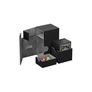 Ultimate Guard Flip´n´Tray Deck Case 80+ Standardgröße XenoSkin Schwarz